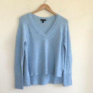 J. Crew V-Neck Sweater In Yarn Heather Blue